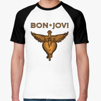 Футболка реглан Bon Jovi