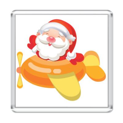 Магнит Дед Мороз к нам мчится