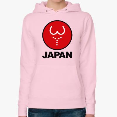 Женская толстовка худи Японская леди