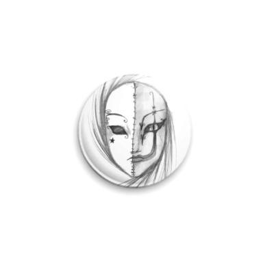 Значок 25мм маска