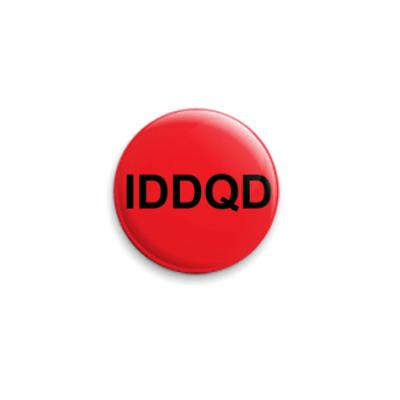 Значок 25мм IDDQD красный