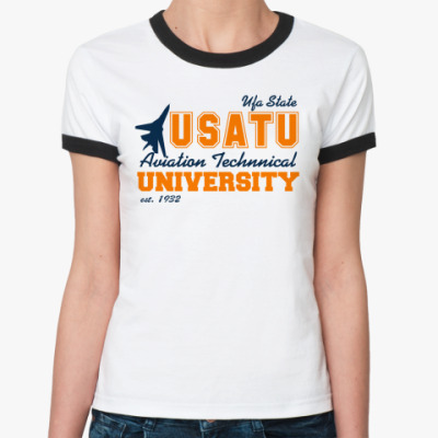 Женская футболка Ringer-T УГАТУ
