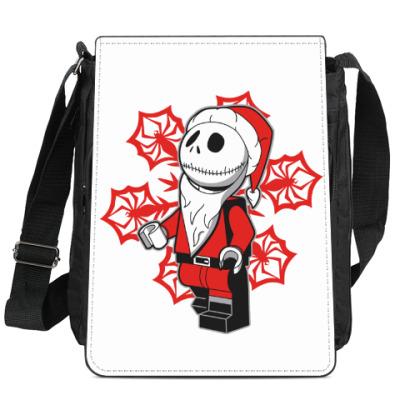 Сумка-планшет Санта скелет