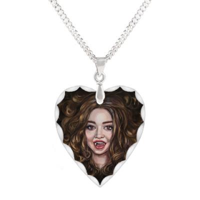 Кулон 'сердце' Dangerous beauty. Vampire Academy
