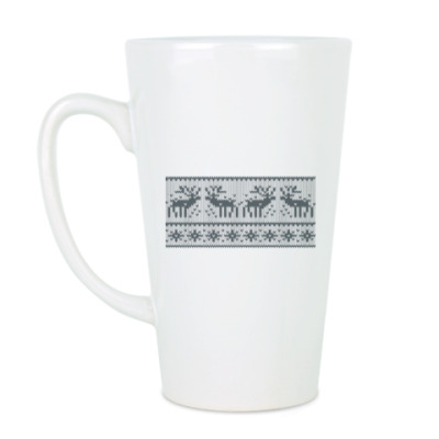 Чашка Латте свитер с оленями