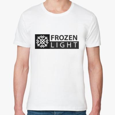 Футболка из органик-хлопка снежинка frozen light