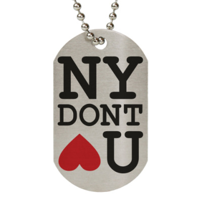 Жетон dog-tag NEW YORK