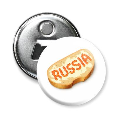 Магнит-открывашка «Russia»