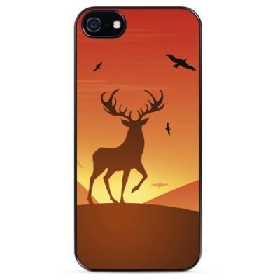 Чехол для iPhone Олень на закате