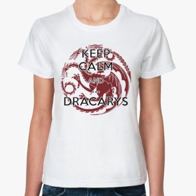 Классическая футболка Игра престолов.Дракарис