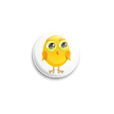 Значок 25мм  25 мм Цыпленок