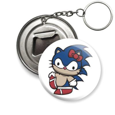 Брелок-открывашка Kitty Sonic