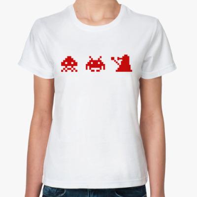 Классическая футболка Dalek & Space Invaders