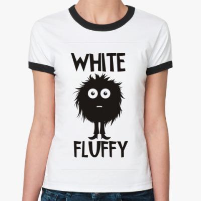 Женская футболка Ringer-T белая и пушистая