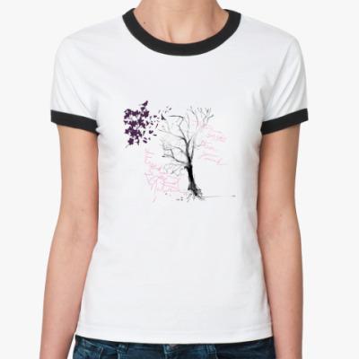 Женская футболка Ringer-T Black Tree