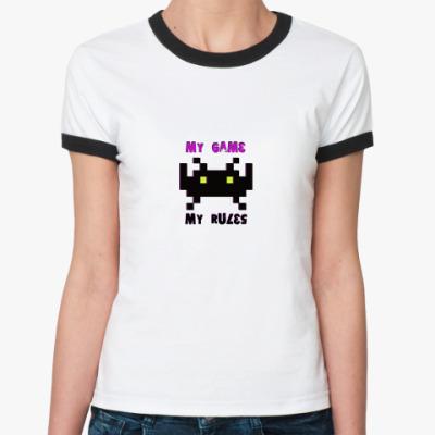 Женская футболка Ringer-T My game