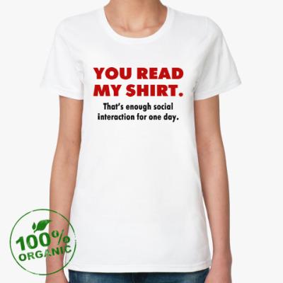 Женская футболка из органик-хлопка Social Interaction