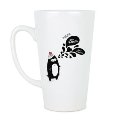 Чашка Латте Пингвин