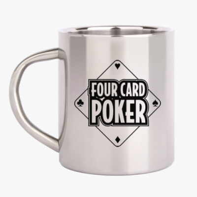 Кружка металлическая Four Card Poker