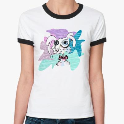 Женская футболка Ringer-T Rabbit