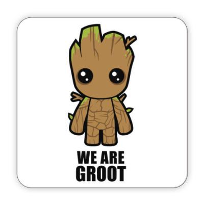 Костер (подставка под кружку) We are Groot