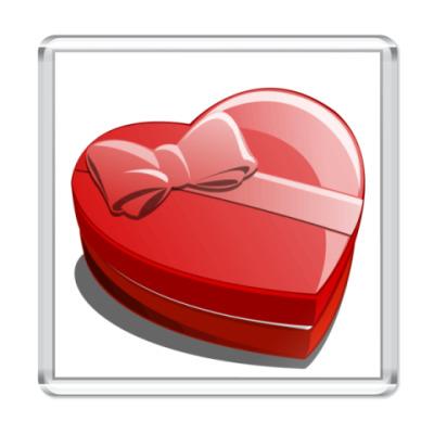 Магнит Коробка-Сердце
