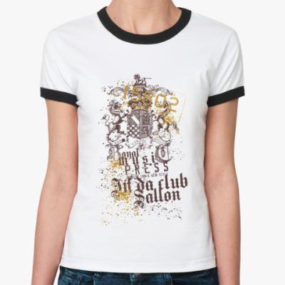 Женская футболка Ringer-T illinois