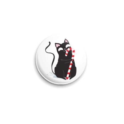 Значок 25мм Кот и конфета