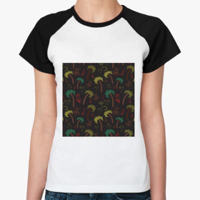 Женская футболка реглан Пальмы