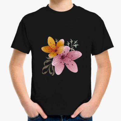 Детская футболка Я люблю цветы