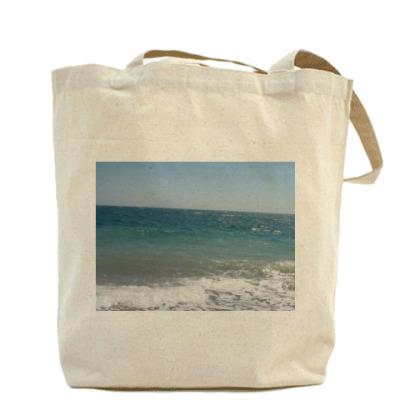 Холщовая сумка   на море