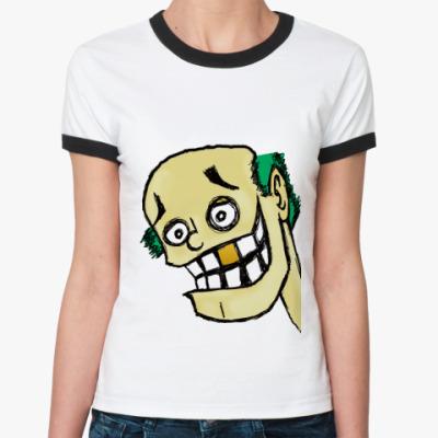 Женская футболка Ringer-T Funky gay