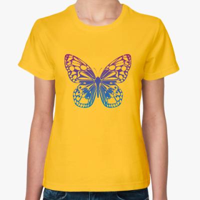 Женская футболка Бабочка Butterfly Vintage