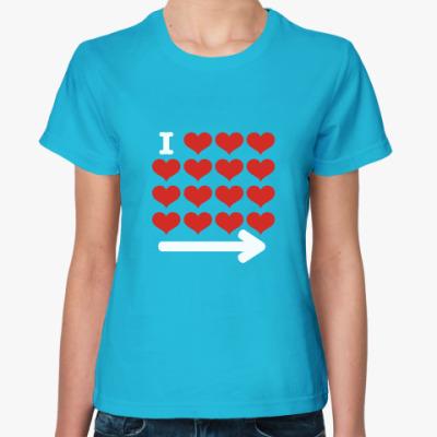 Женская футболка I love