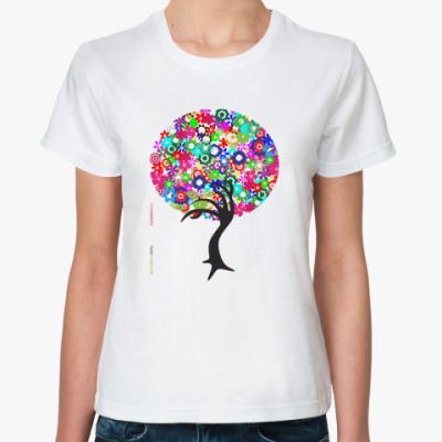 Классическая футболка Яркое дерево