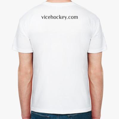 Белая футболка Suck my Puck