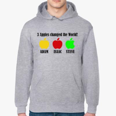 Толстовка худи 3 яблока изменили мир