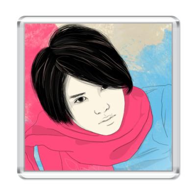Магнит  Тегоши в р. шарфе
