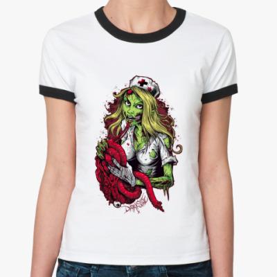 Женская футболка Ringer-T Darkside