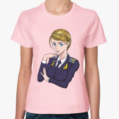 Женская футболка Прокурор Тян. Няш-мяш. Крым.