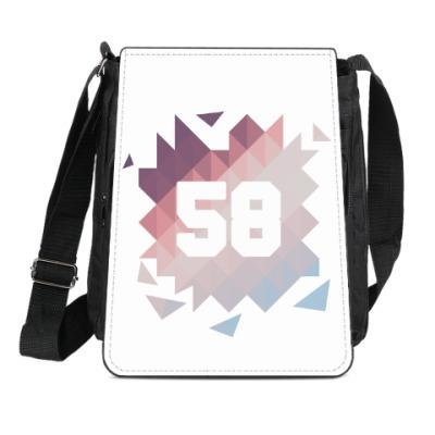 Сумка-планшет Цифра 58 (Low Poly)