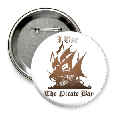 Значок 75мм The Pirate Bay