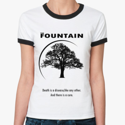 Женская футболка Ringer-T The fountain