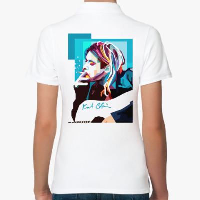 Женская рубашка поло Kurt Cobain
