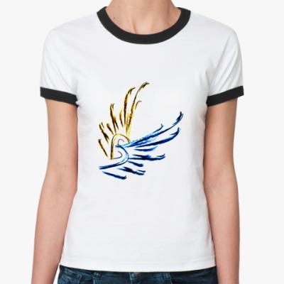 Женская футболка Ringer-T  Wings