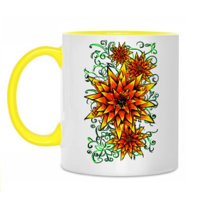 Кружка Желтые цветочки