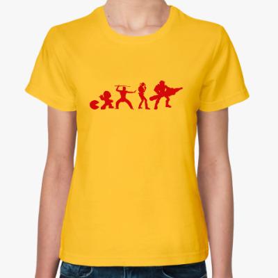Женская футболка Эволюция игры