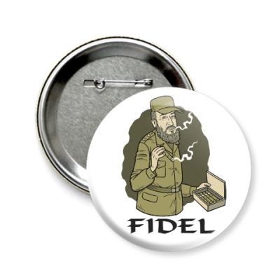 Значок 58мм Fidel