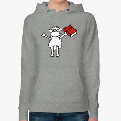 Женская толстовка худи Овца - С новым годом !