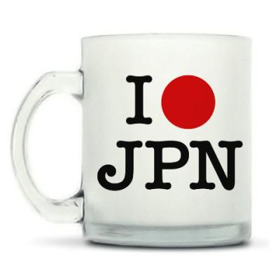 Кружка матовая I love Japan